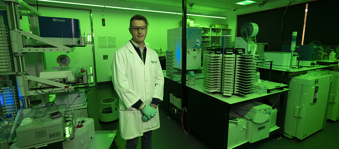Male scientist standing in a scientific facility